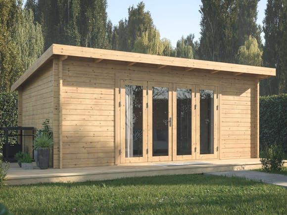 Log Cabin Garden House Lea 5.3m x 3.8m