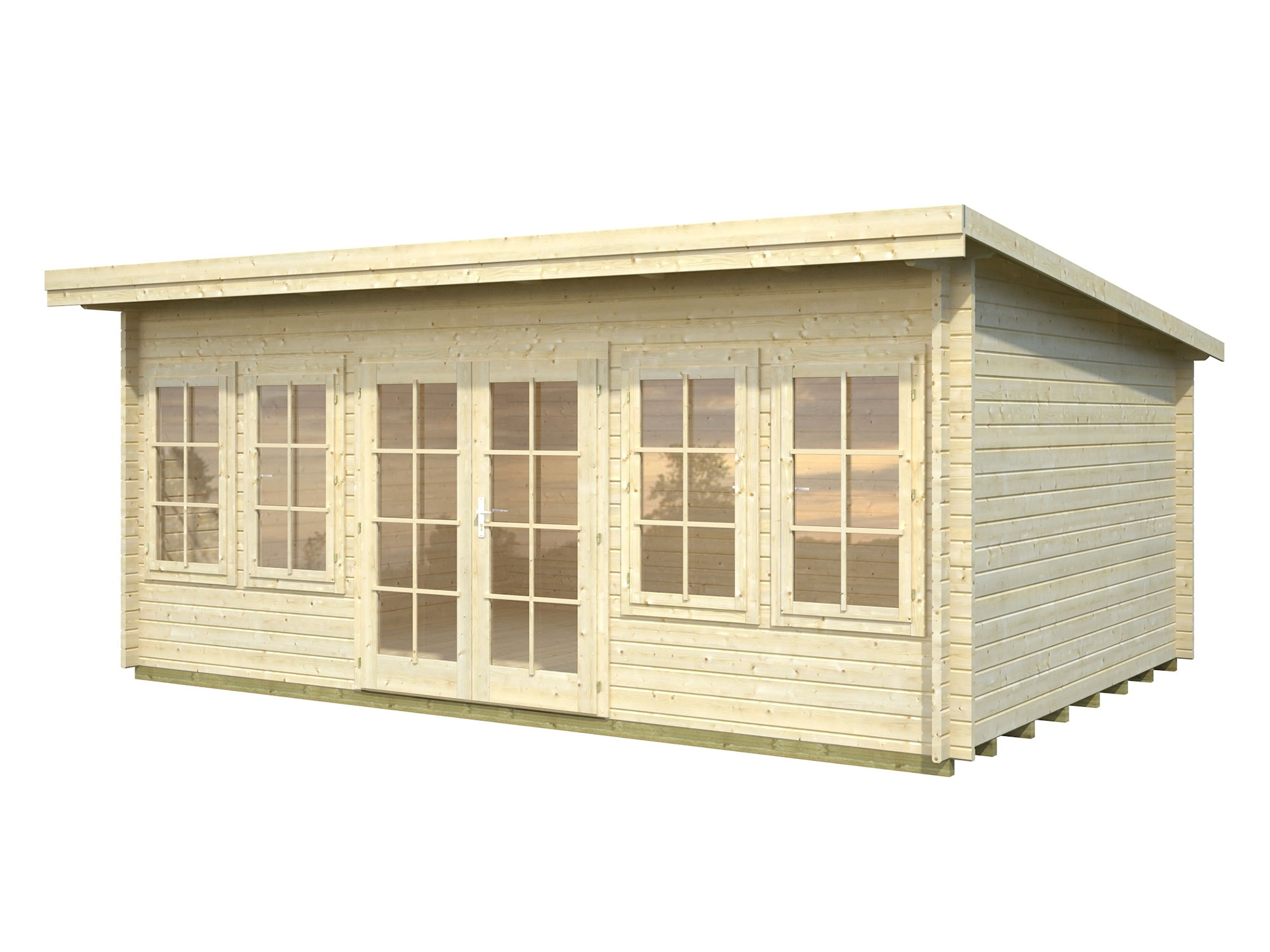 Log Cabin Garden House Lisa 5.3m x 3.8m