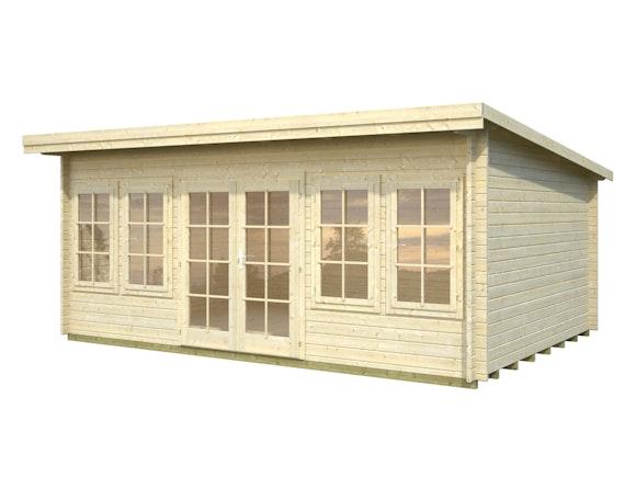 Log Cabin Garden House Lisa 5.3m x 3.8m