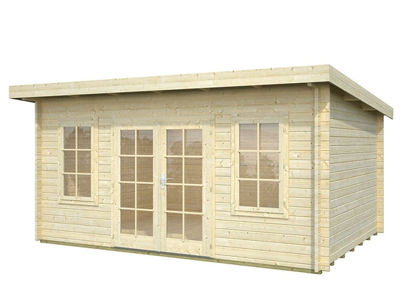Log Cabin Garden House Lisa 4.5m x 3.3m
