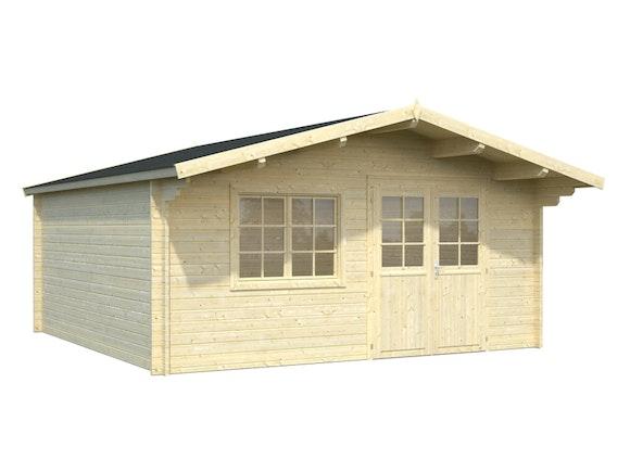 Log Cabin Garden House Britta 4.8m x 4.8m