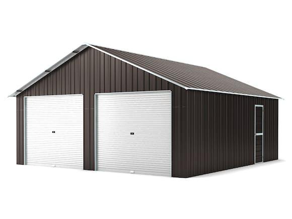 Double Garage 6.4m x 7.2m Widespan Ironsand
