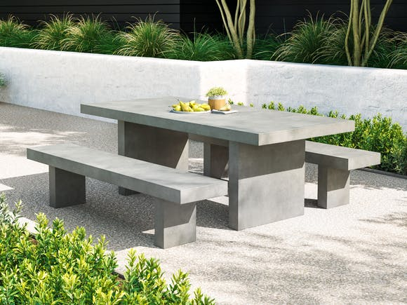 Modulo Concrete Outdoor Dining Set