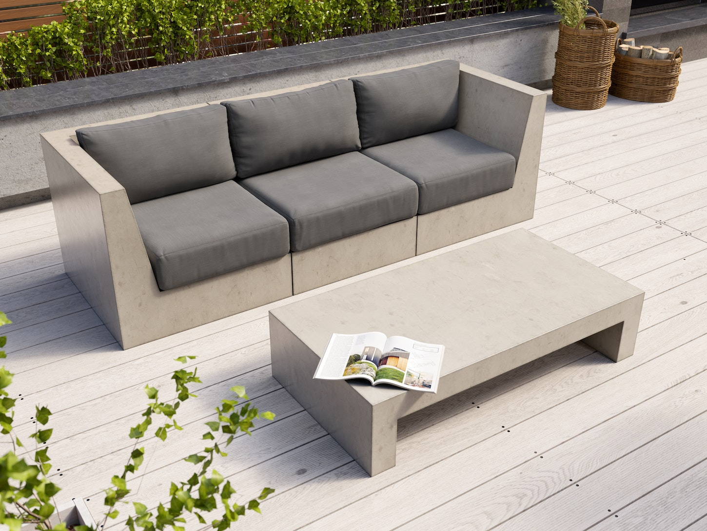 Modulo concrete sofa set lounge sets outdoor furniture home outdoor living trade tested