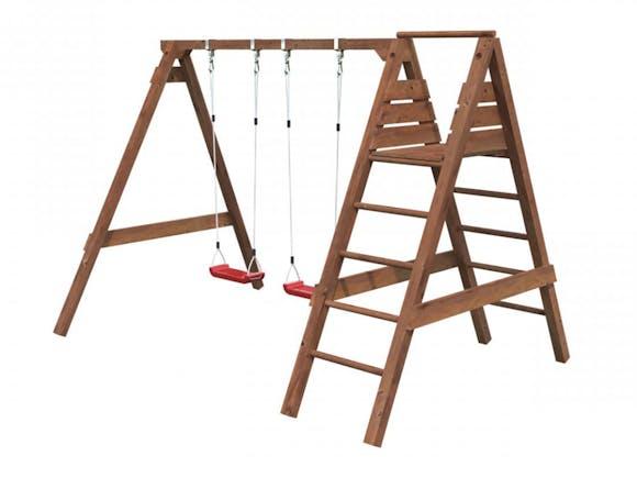 Jonas Wooden Swing Set with Platform