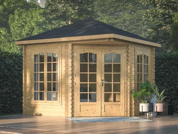 Log Cabin Corner Garden House Melanie 2.8m x 2.8m