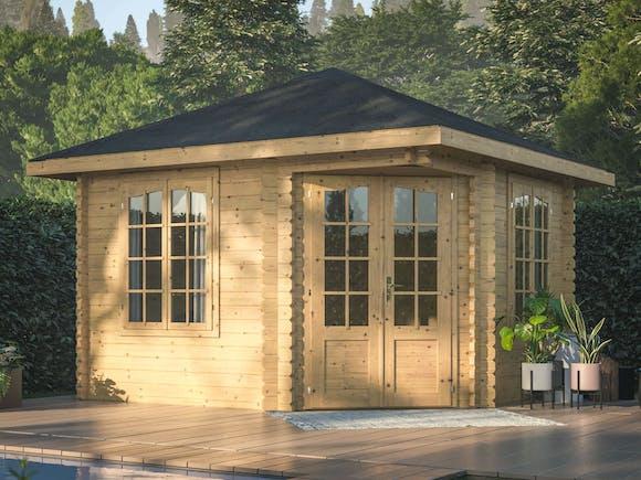 Log Cabin Corner Garden House Melanie 3.3m x 3.3m
