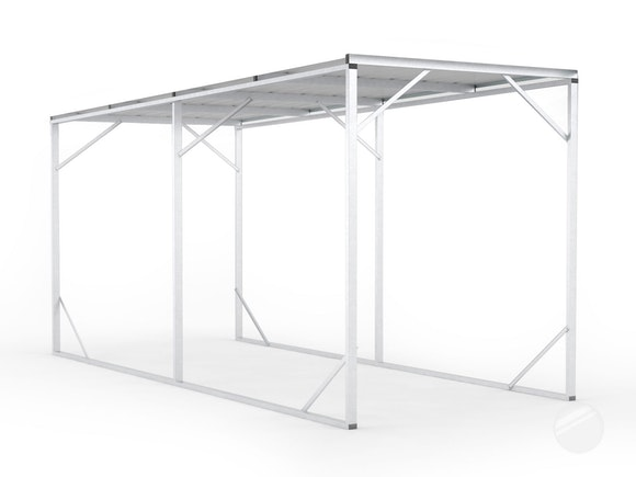 Carport 2.6m x 6.0m Frosted Roof
