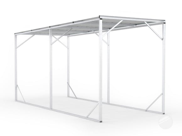 Carport 2.6m x 6.0m x 2.8m Frosted Roof