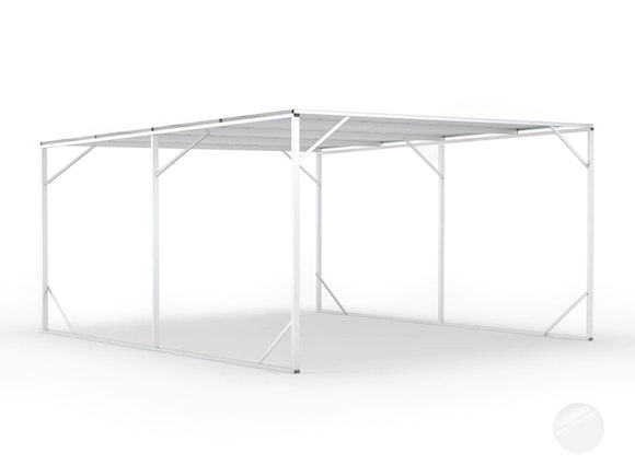 Carport 5.2m x 6.0m Frosted Roof