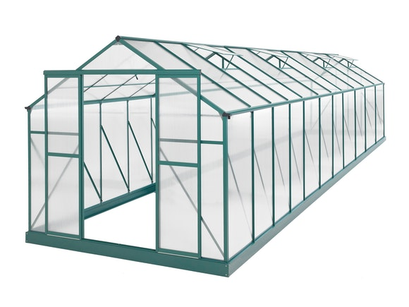 Evergreen Greenhouse 24 x 8ft Green