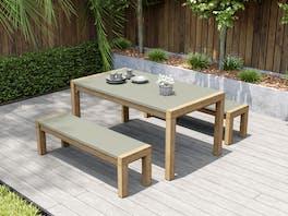 Terrace Concrete Outdoor Dining Set