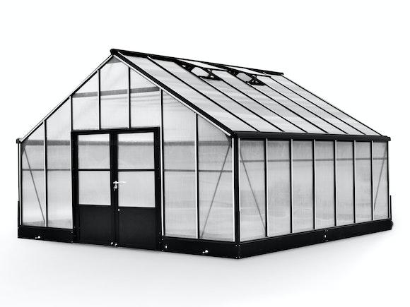 Evergreen Pro Greenhouse 17 x 17ft Black