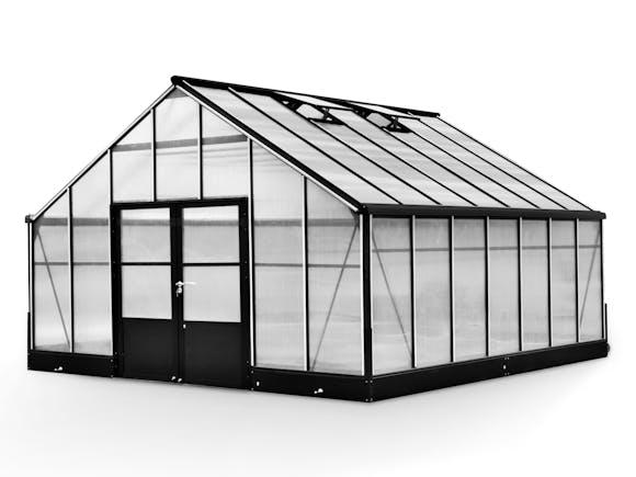 Evergreen Pro Greenhouse 16 x 16ft Black