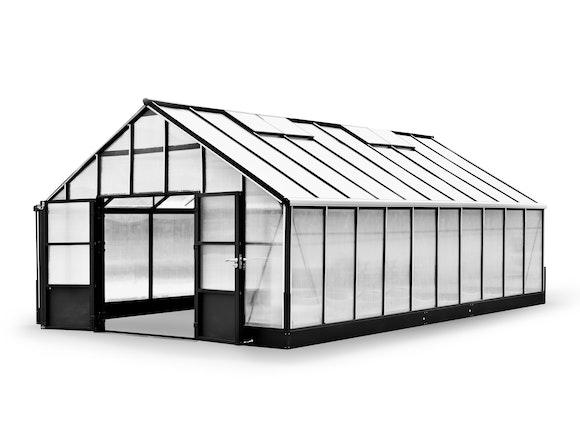 Evergreen Pro Greenhouse 24 x 17ft Black