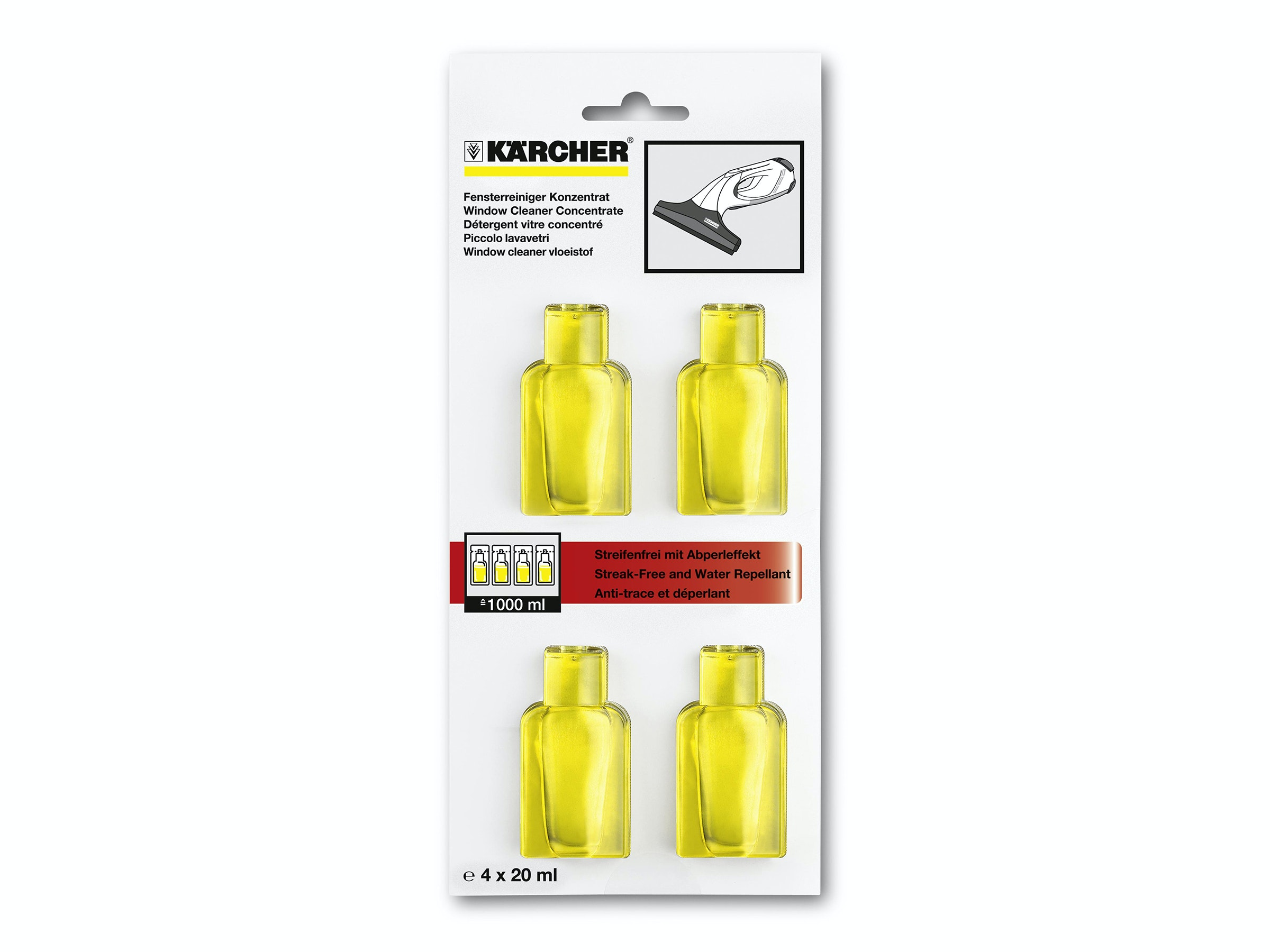 Karcher Glass Cleaner Concentrate 4x20ml