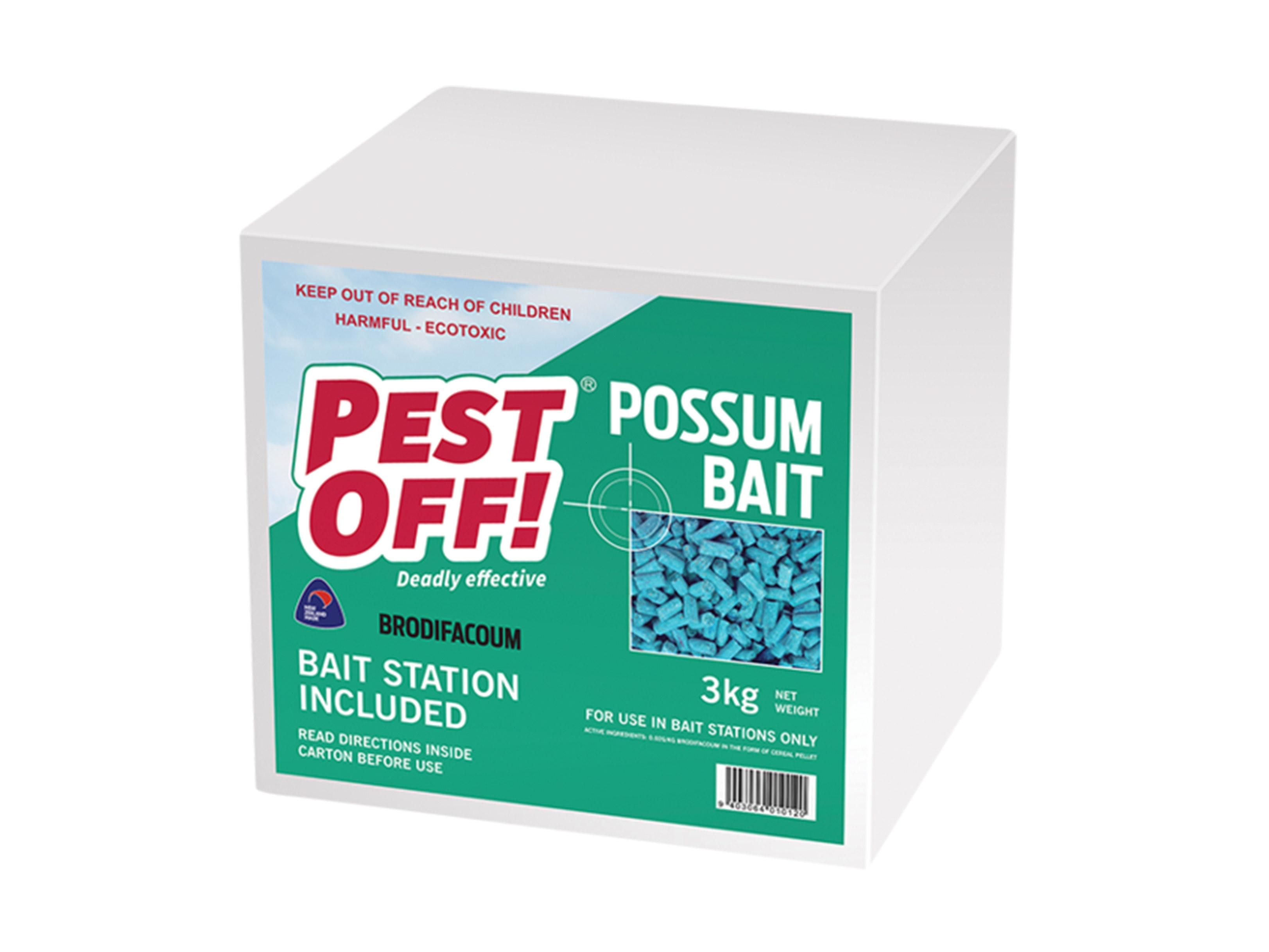 Pestoff Possum Bait 3kg & Bait Station