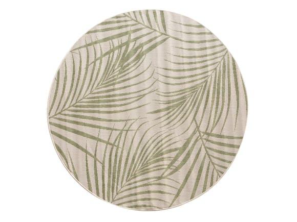 Signature Outdoor Rug Palm Green Round 200cm