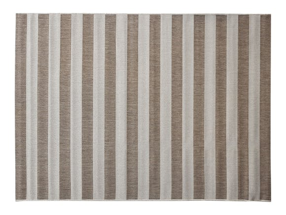 Signature Outdoor Rug Beige & Cream Stripe 160 x 230cm
