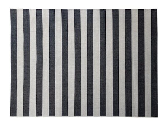 Signature Outdoor Rug Black & Cream Stripe 200 x 290cm