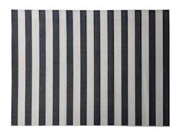 Signature Outdoor Rug Black & Cream Stripe 160 x 230cm