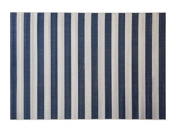 Signature Outdoor Rug Blue & Cream Stripe 200 x 290cm