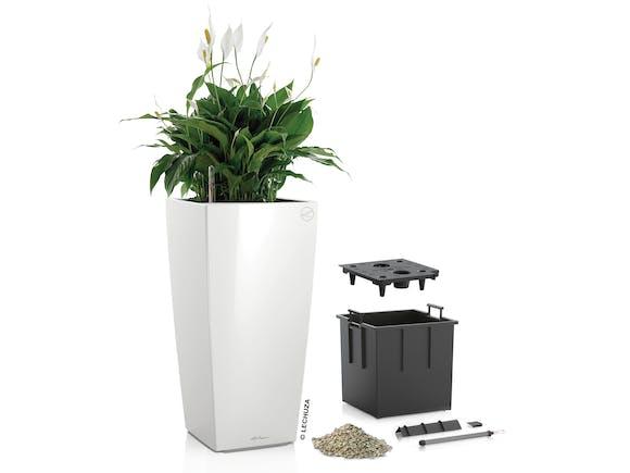 Lechuza Cubico Planter Colour 30 14L - White