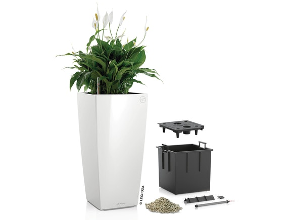Lechuza Cubico Planter Colour 40 - White