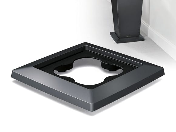 Lechuza Cubico 40 Coaster - Charcoal