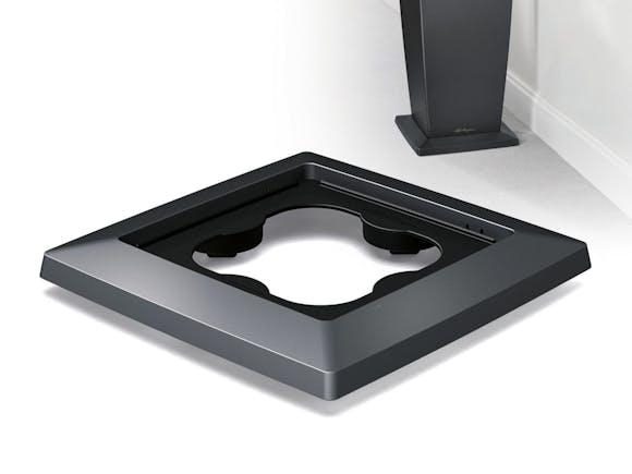 Lechuza Cubico 30 Coaster - Charcoal