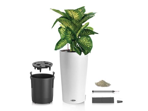 Lechuza Cilindro Planter 23 - White