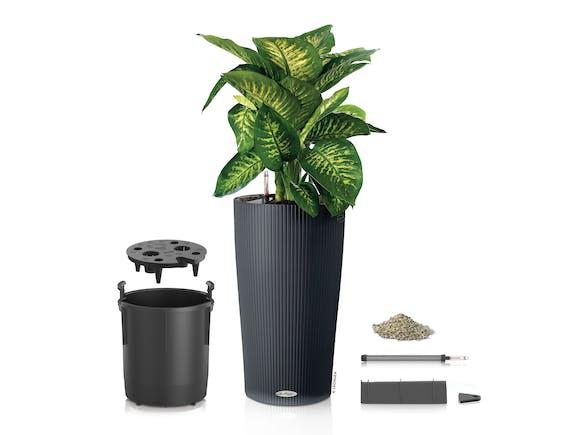Lechuza Cilindro Planter 32 13L - Slate