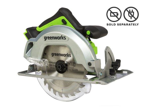 Greenworks 24V Circular Saw Brushless 185mm Skin