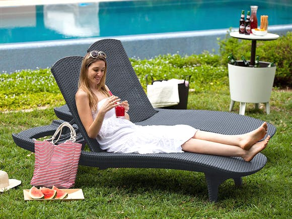 Keter Pacific Lounger - Pair