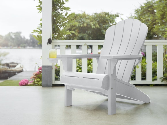 Keter Cape Cod Adirondack Chair with Cupholder White
