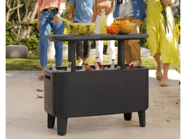 Keter Bevvy Outdoor Bar Anthracite 60L