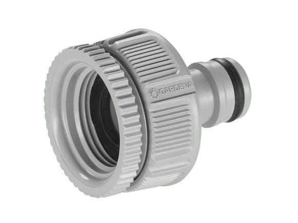 "Gardena 13mm Hose Connector Dual Tap Adaptor 3/4"" + 1"""