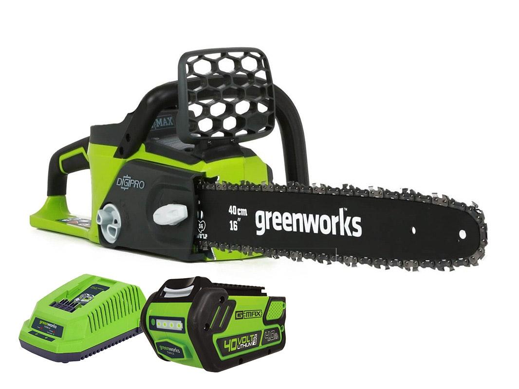 GreenWorks Chainsaw G-MAX 40V Brushless 16
