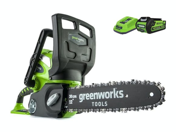 "GreenWorks Chainsaw G-MAX 40V Li-Ion 12"" 2.0Ah Kit"