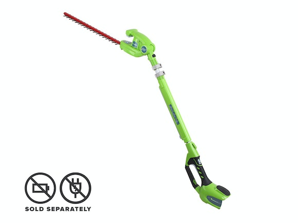 GreenWorks Long Reach Hedge Trimmer G-MAX 40V Li-Ion
