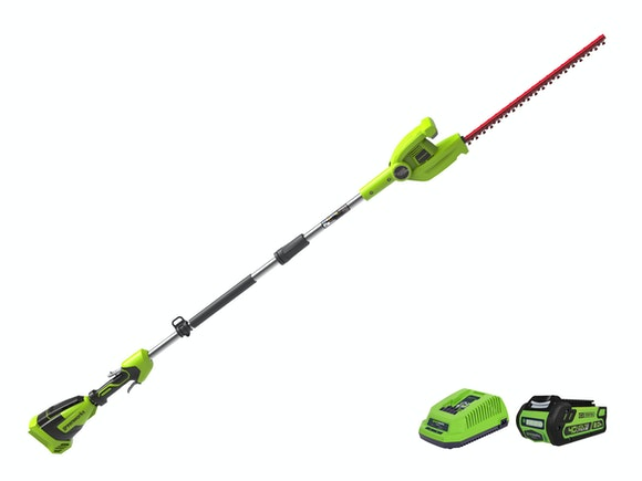 GreenWorks Long Reach Hedge Trimmer G-MAX 40V 2.0Ah Kit