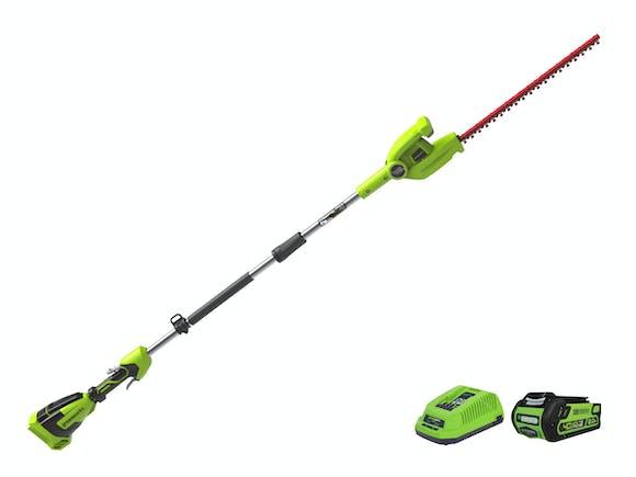 GreenWorks Long Reach Hedge Trimmer G-MAX 40V 2.0Ah Kit