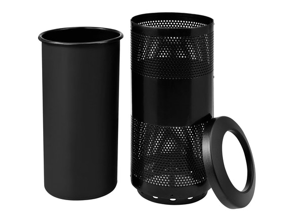 Public Rubbish Bin 75L Black