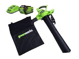 GreenWorks Blower Vac G-MAX 40V Li-Ion DigiPro 4.0Ah Kit