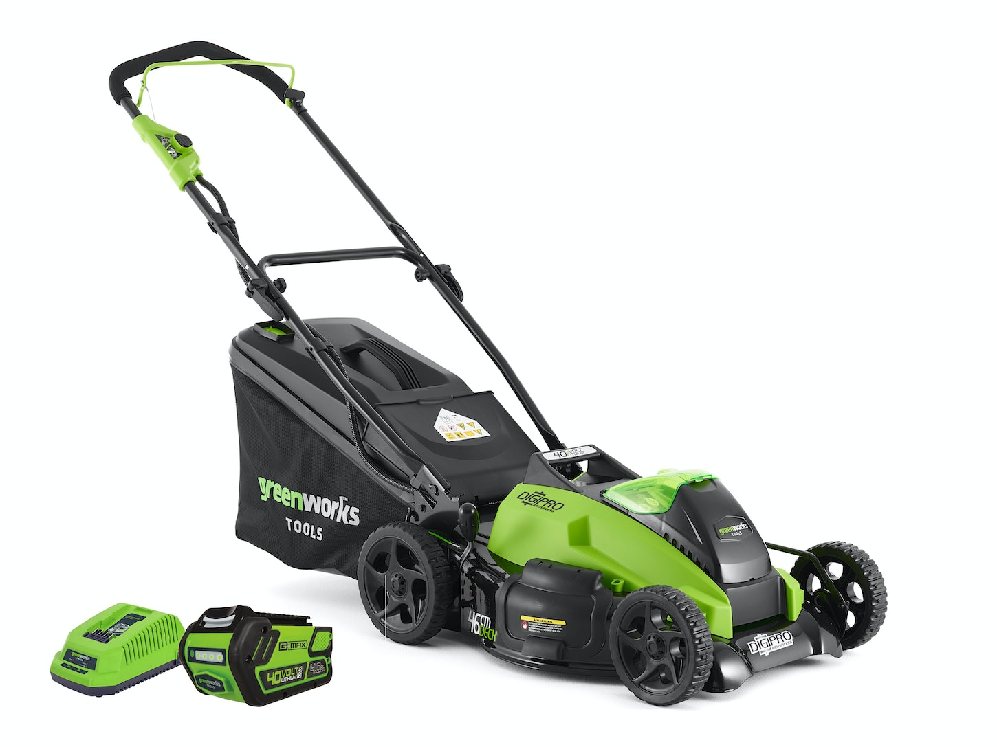 933c586a22a GreenWorks Lawnmower G-MAX 40V 460mm Brushless 4.0Ah Kit - Lawnmowers -  Outdoor Power Equipment - Gardening Trade Tested
