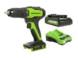 Greenworks 24V Drill-Driver Brushless 2.0Ah Kit