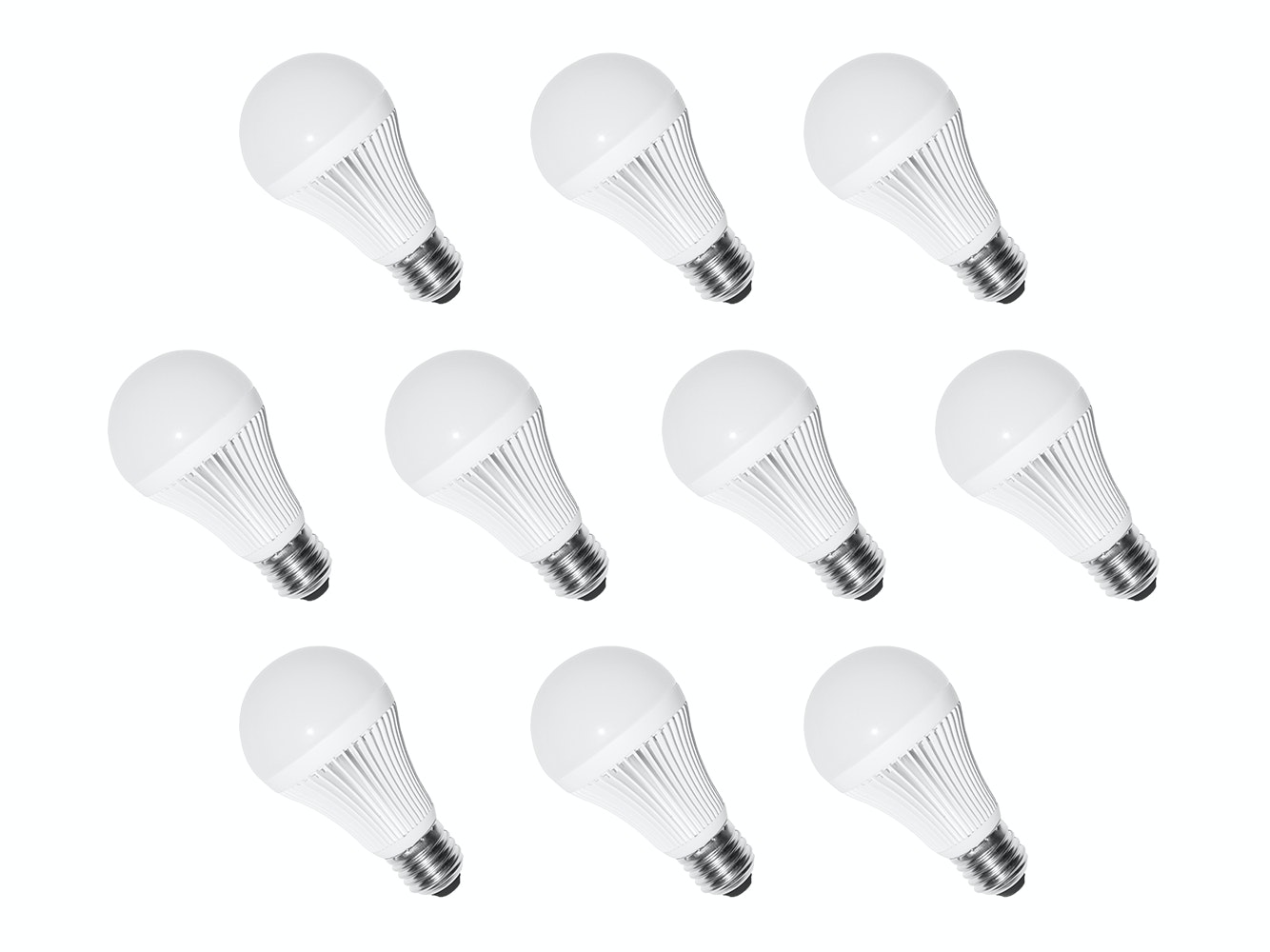 LED Light Bulbs E27 5W Warm White - 10 Pack