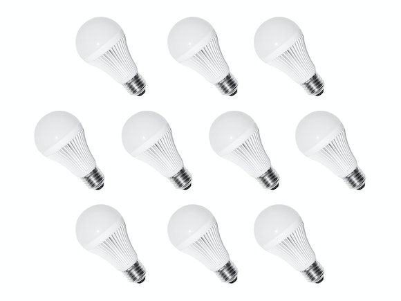 LED Light Bulbs E27 9W Warm White - 10 Pack