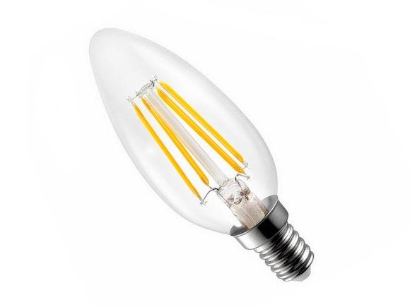 LED Light Bulb C35 4W E14 Filament Warm White