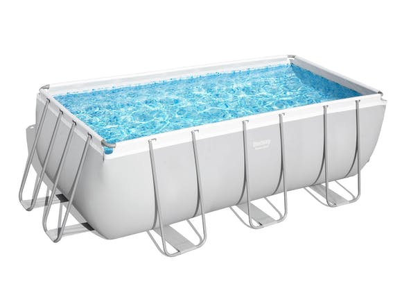 Bestway Power Steel Rectangle Pool Set 4.12m x 2.01m x 1.22m